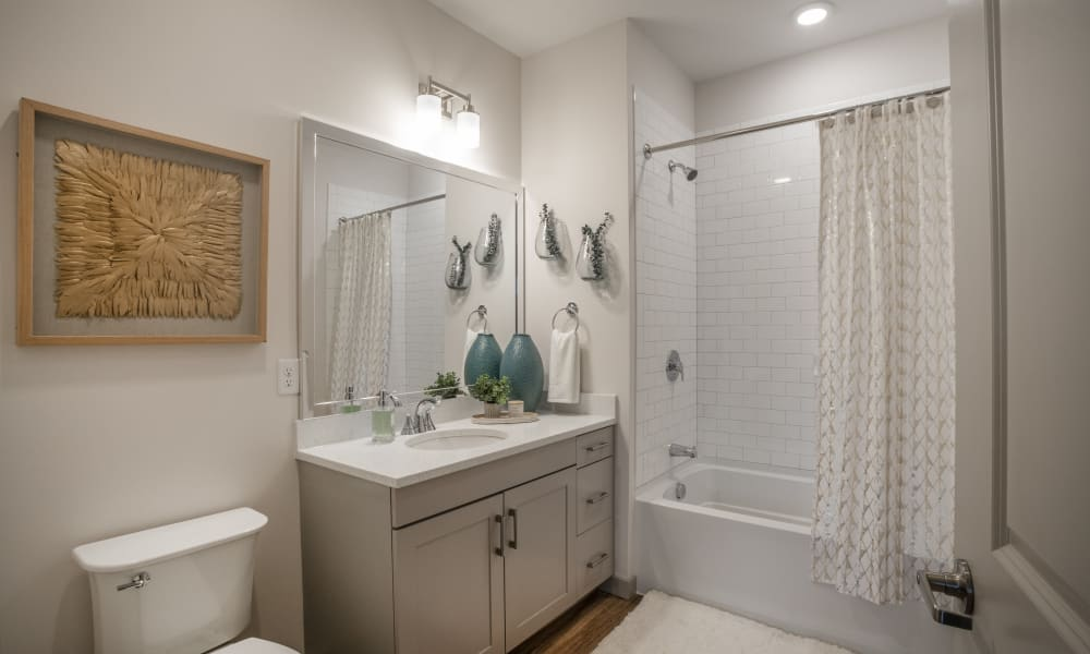 Enjoy apartments with a cozy bathroom at Alta Easterly