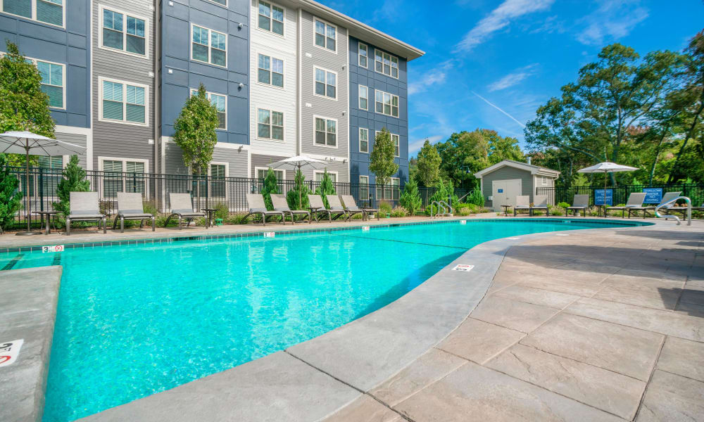 Our apartments in East Walpole, Massachusetts showcase a beautiful swimming pool