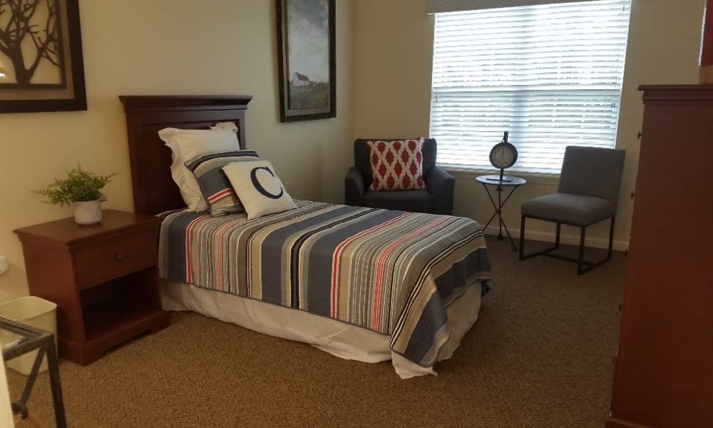Floor plan bedroom at The Arbors at Harmony Gardens in Warrensburg, Missouri