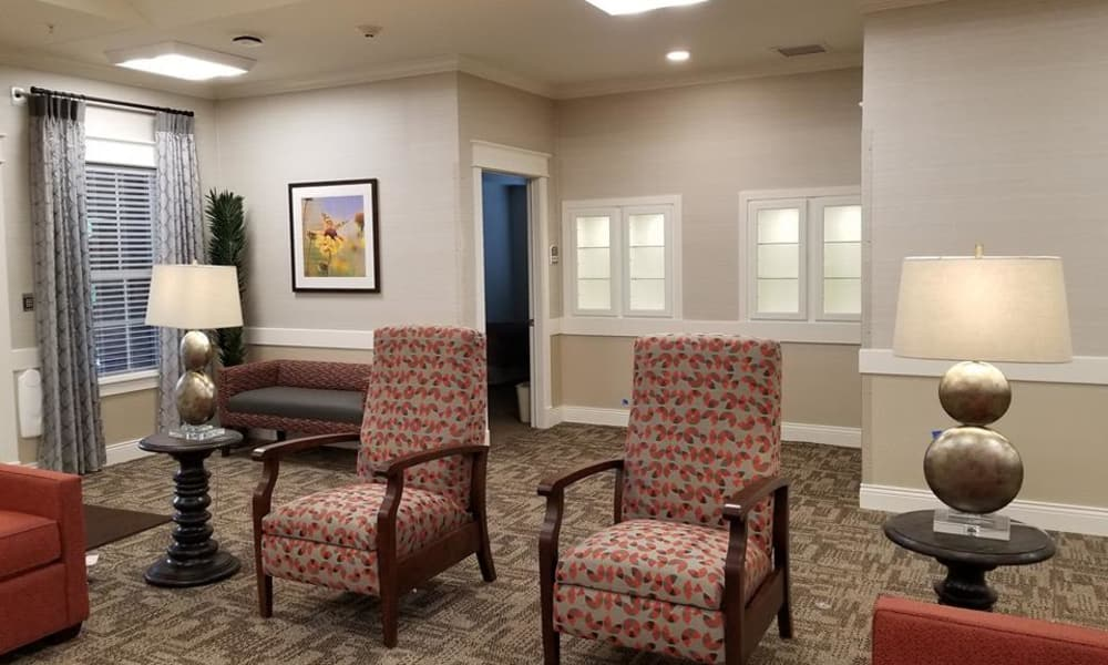 Lobby at The Arbors at Harmony Gardens in Warrensburg, Missouri