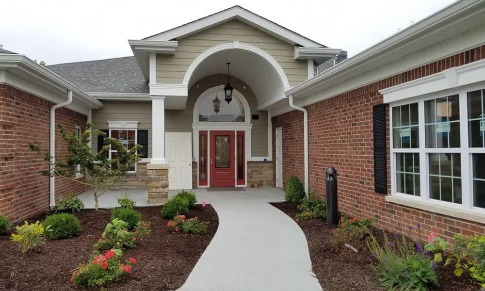 Main entrance at The Arbors at Harmony Gardens in Warrensburg, Missouri