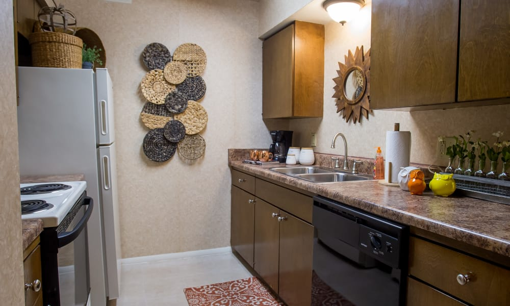 Spacous kitchen at Barcelona Apartments in Tulsa, Oklahoma