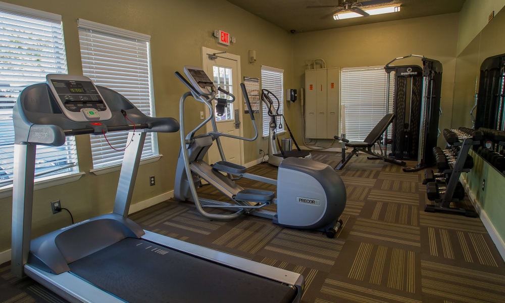 Barcelona Apartments offers a fitness center in Tulsa, Oklahoma