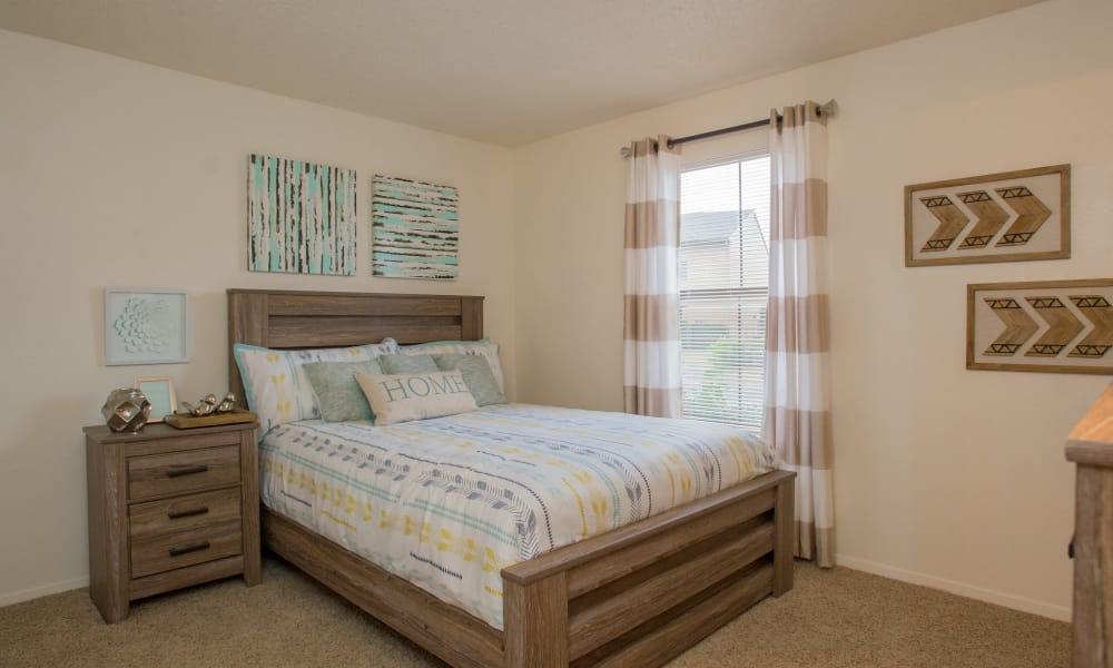 Spacious bedroom at Cimarron Pointe Apartments in Oklahoma City, Oklahoma