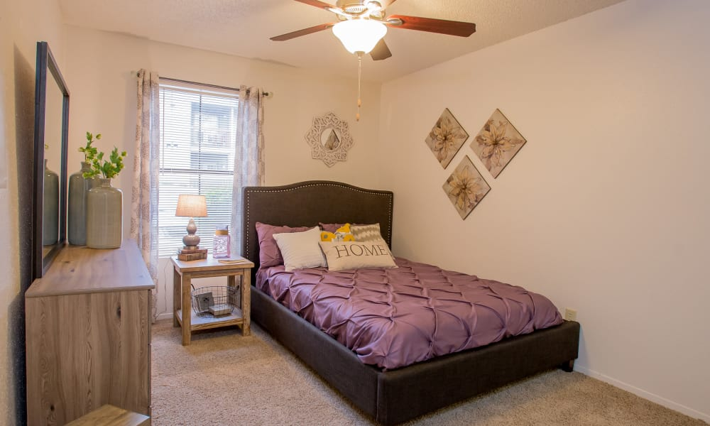 Bedroom at Cimarron Pointe Apartments in Oklahoma City, Oklahoma