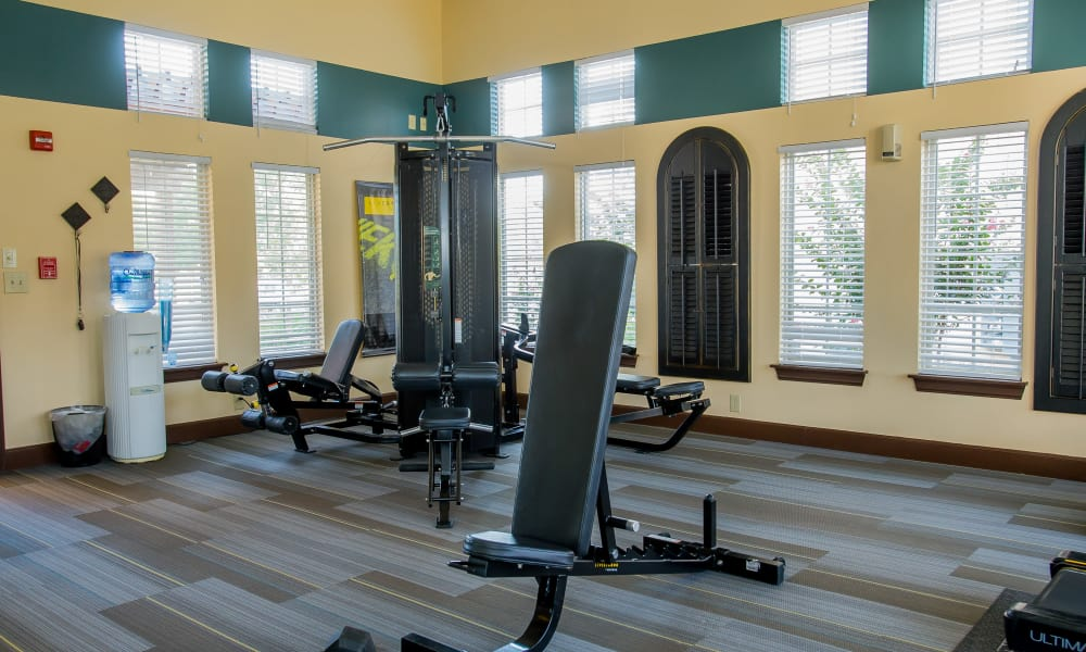 Fitness center for residents at Coffee Creek Apartments in Owasso, Oklahoma