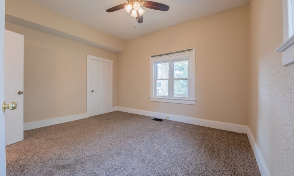 Large extra bedroom at Pleasant Street Apartments in Des Moines, Iowa