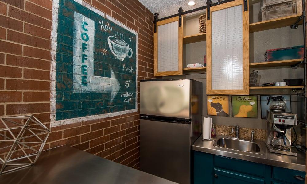 Clubhouse's kitchen at Hunter's Ridge in Oklahoma City, Oklahoma