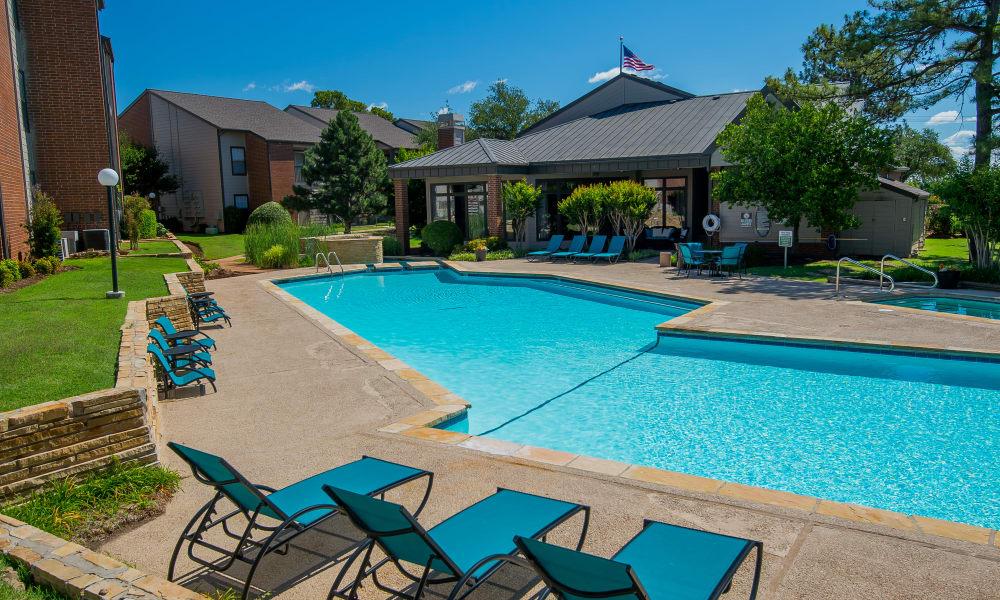 The community pool at Hunter's Ridge in Oklahoma City, OK