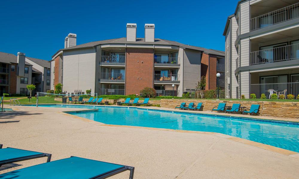 Poolside seating at Hunter's Ridge in Oklahoma City, Oklahoma