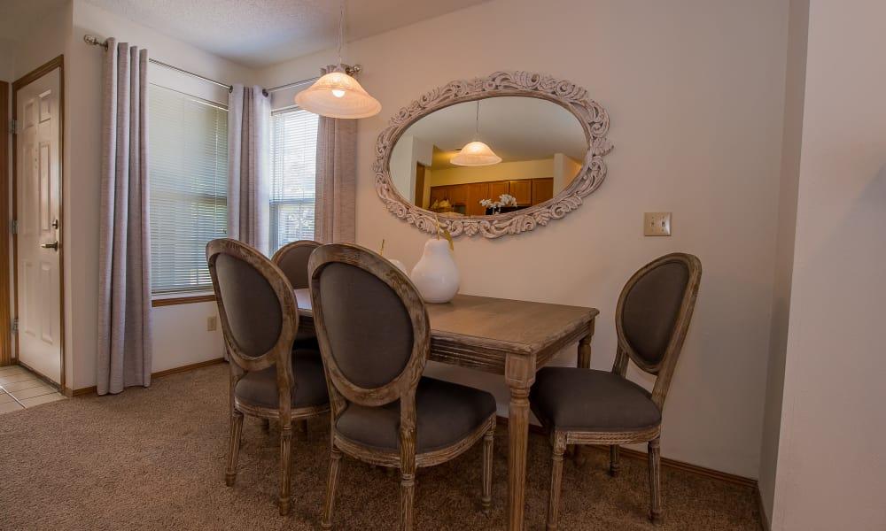 Dining area at Huntington Park Apartments  in Wichita, Kansas