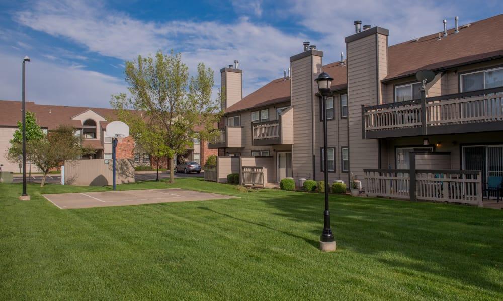 Basketball court at Huntington Park Apartments  in Wichita, Kansas