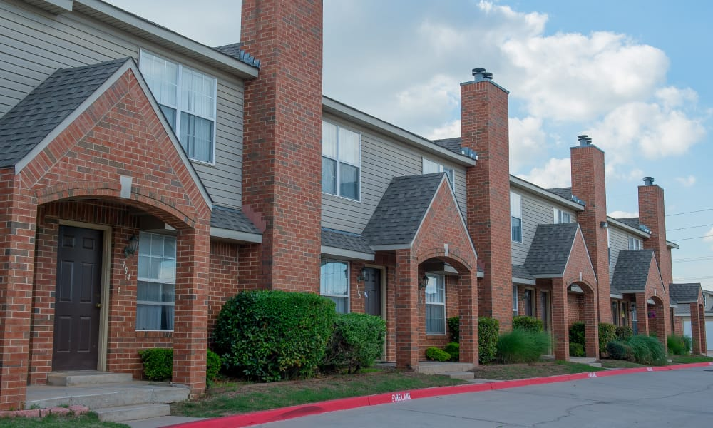 Brick buildings at Persimmon Square Apartments in Oklahoma City, Oklahoma