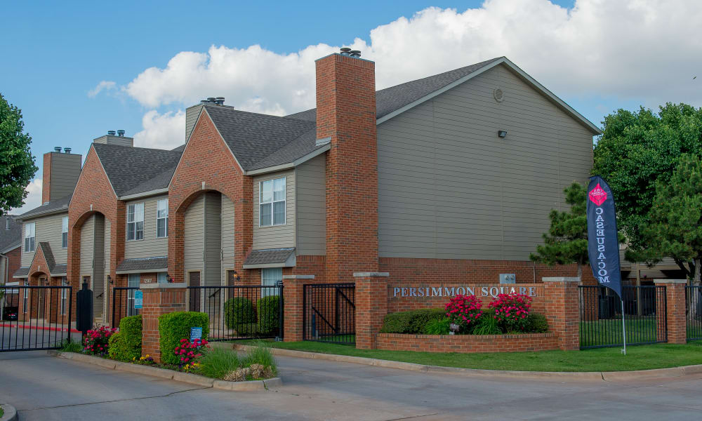 A row of apartments at Persimmon Square Apartments in Oklahoma City, OK