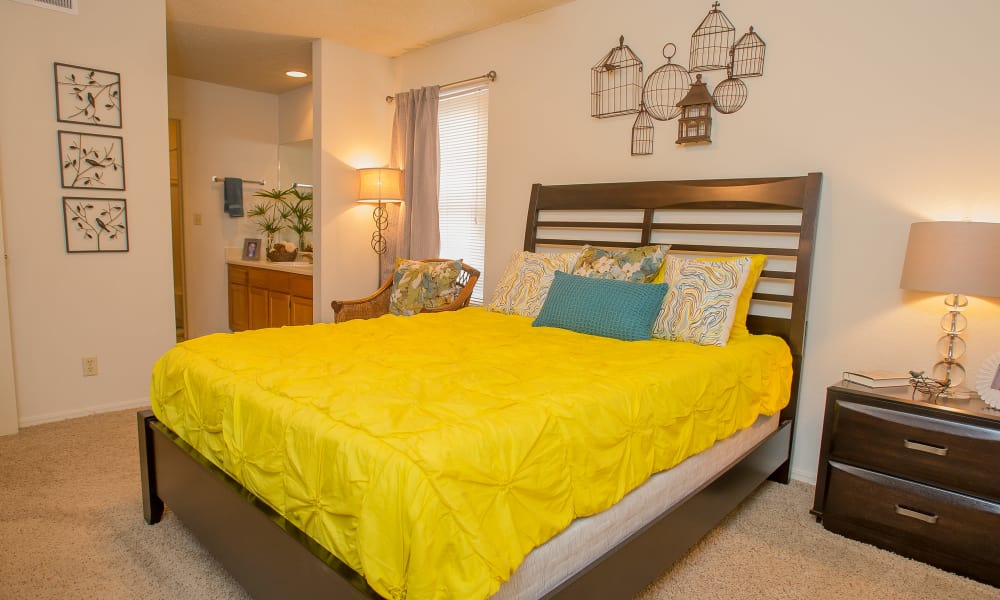 Spacious bedroom at Polo Run Apartments in Tulsa, Oklahoma
