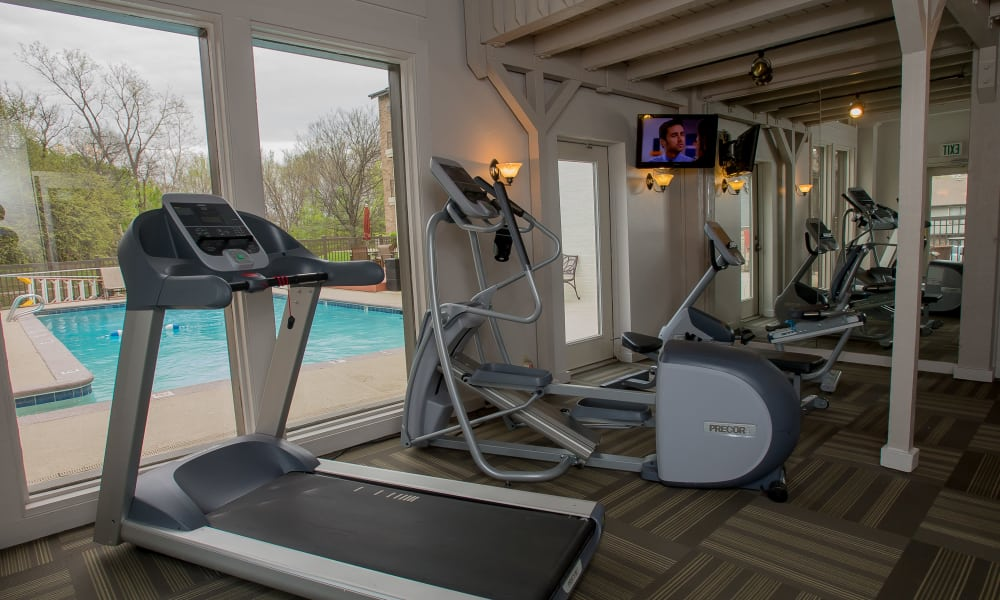 Polo Run Apartments offers a fitness center for residents in Tulsa, Oklahoma