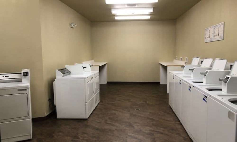 Laundry machines at City Center Apartments in Reno, Nevada