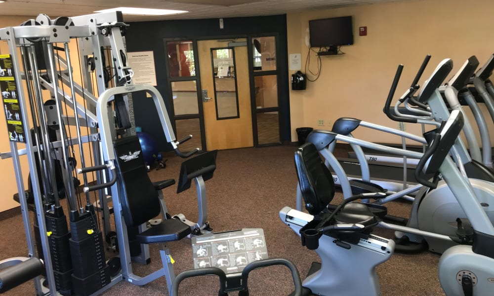 Fitness area at City Center Apartments in Reno, Nevada