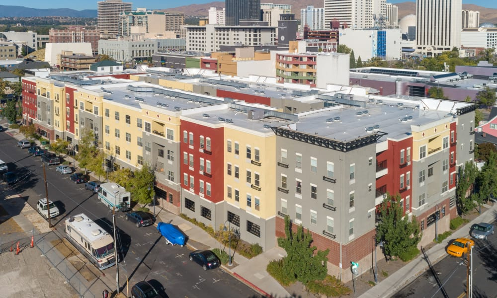 Aerial photo of City Center Apartments in Reno, Nevada