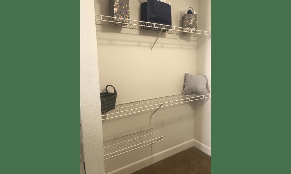 Spacious closet at our apartments in Reno, NV