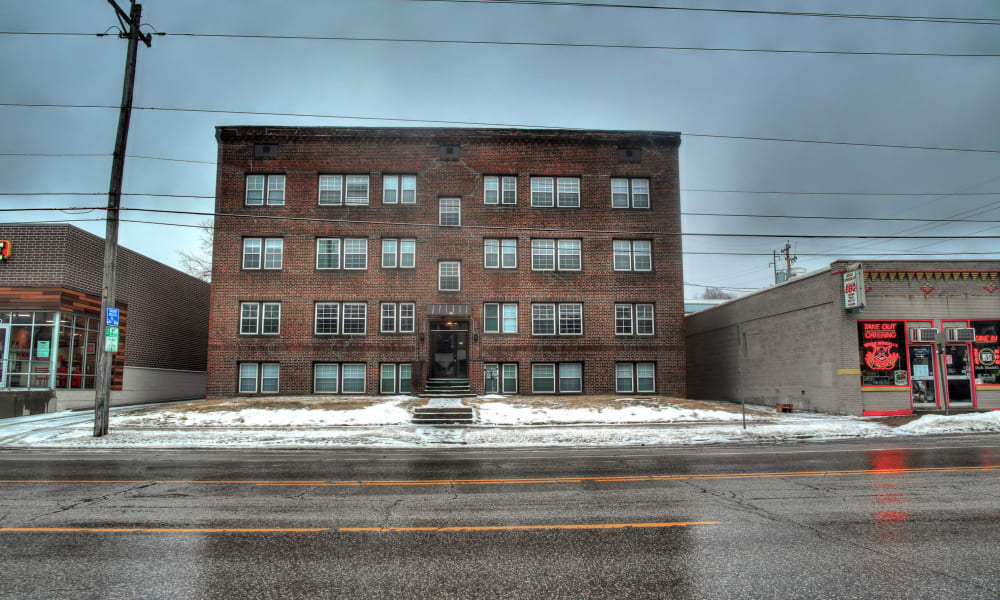 View of apartments at Ingersoll Flats in Des Moines, Iowa