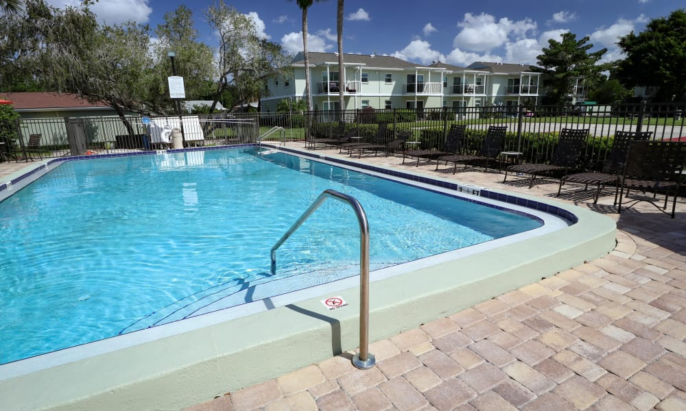 Sparkling Swimming Pool at Ridgeview Apartments in Seminole, Florida