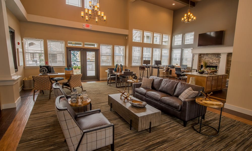 Beautiful clubhouse at Scissortail Crossing Apartments in Broken Arrow, Oklahoma