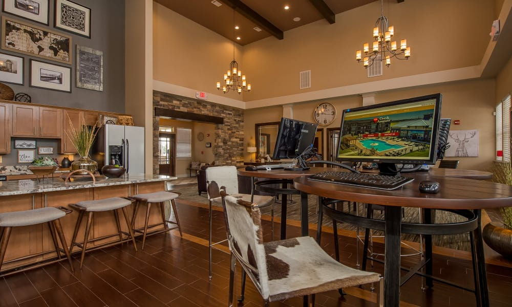 Business center at Scissortail Crossing Apartments in Broken Arrow, Oklahoma