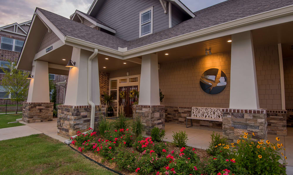 Clubhouse exterior at Scissortail Crossing Apartments in Broken Arrow, Oklahoma