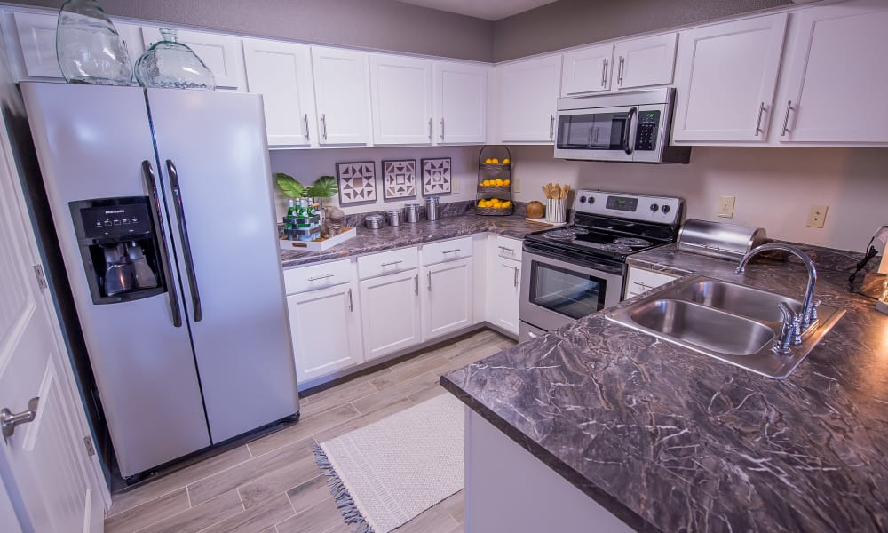 Spacious kitchen at Scissortail Crossing Apartments in Broken Arrow, Oklahoma