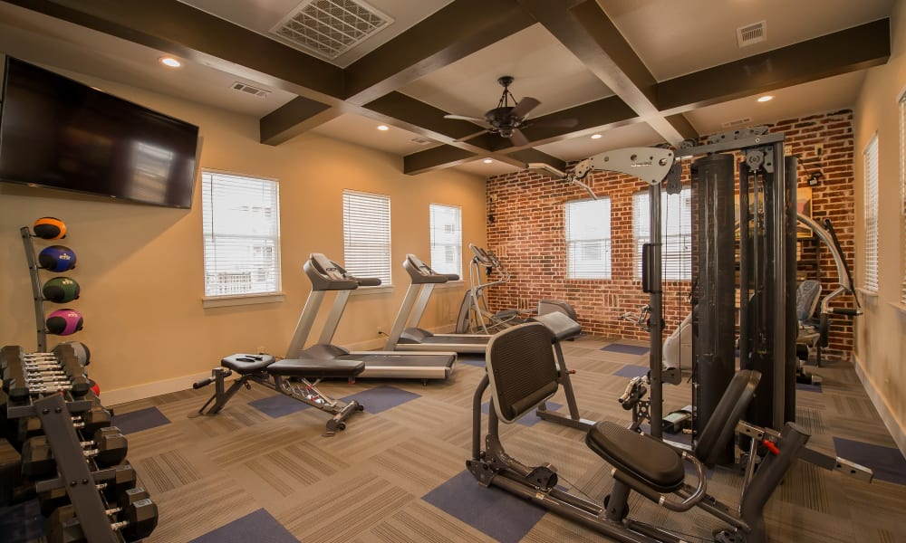 Fitness center for residents at Scissortail Crossing Apartments in Broken Arrow, Oklahoma