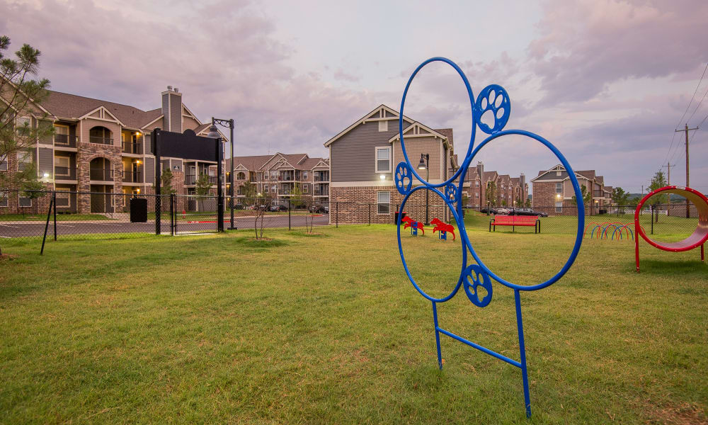 Spacious dog park at Scissortail Crossing Apartments in Broken Arrow, Oklahoma