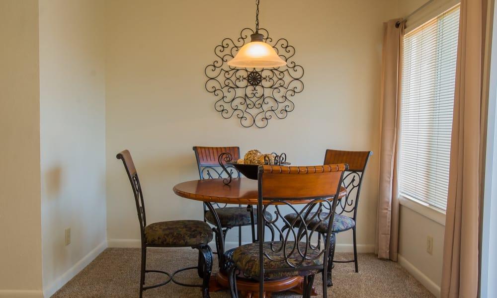 Dining area at Sheridan Pond in Tulsa, Oklahoma