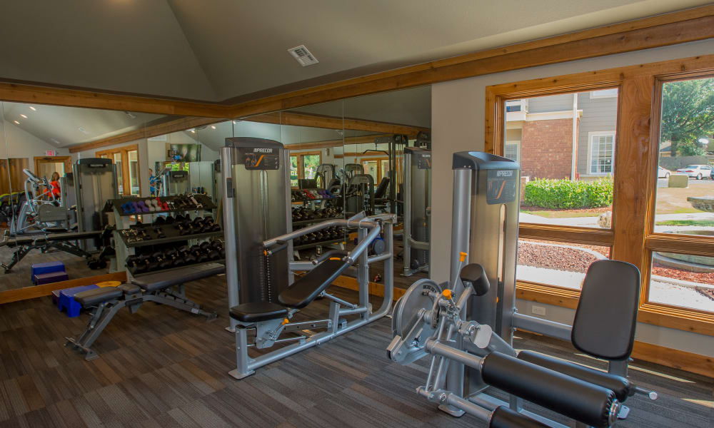Fitness center for residents at Sheridan Pond in Tulsa, Oklahoma