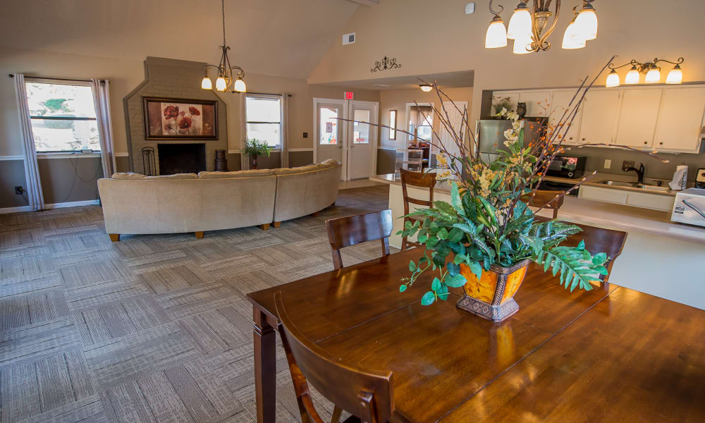 Dining area at The Mark Apartments' clubhouse in Ridgeland, Mississippi