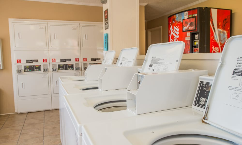 The laundry room at The Mark Apartments in Ridgeland, MS
