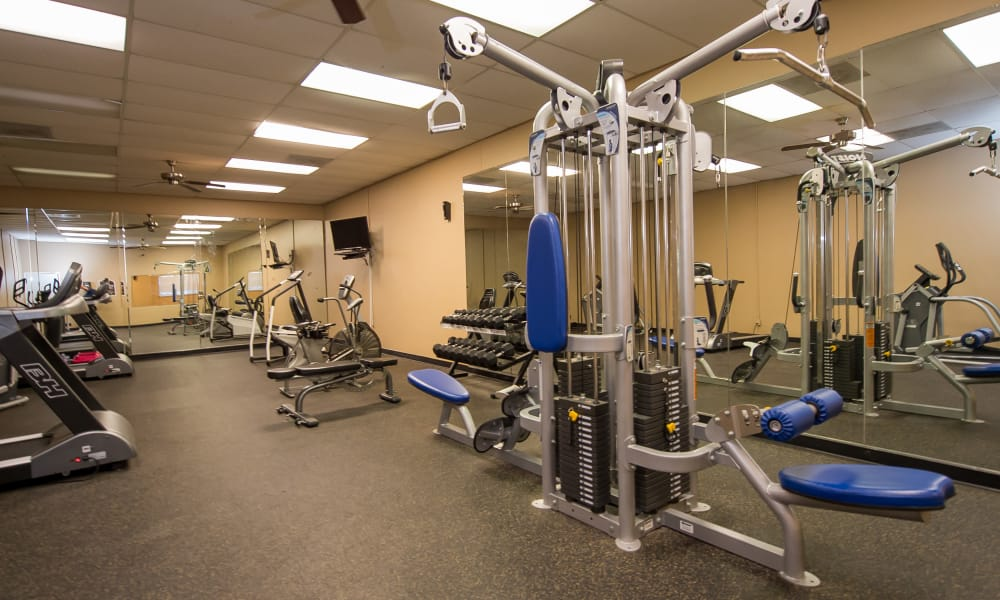The gym at The Mark Apartments in Ridgeland, MS