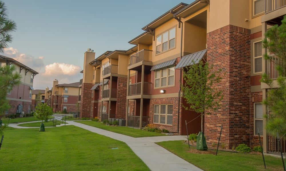 Apartment buildings at The Reserve at Elm in Jenks, Oklahoma
