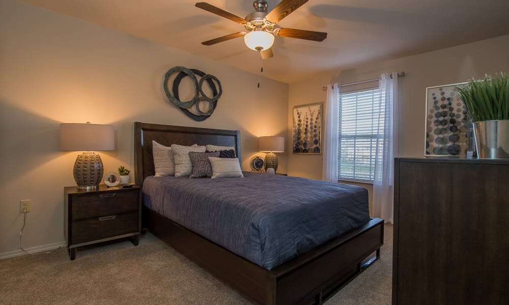 Cottages at Crestview offers bright bedrooms in Wichita, Kansas