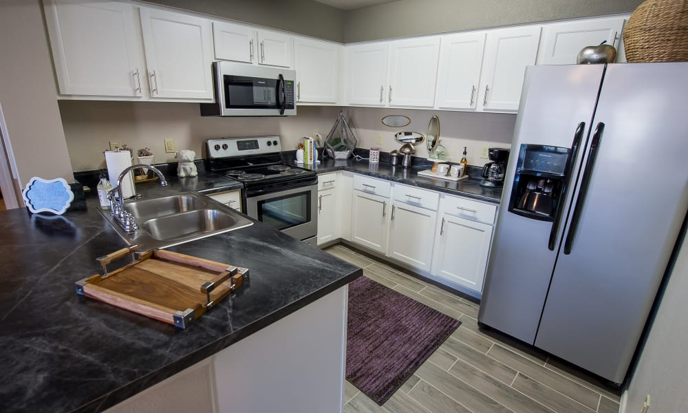 Well equipped kitchen at Cottages at Crestview in Wichita, Kansas