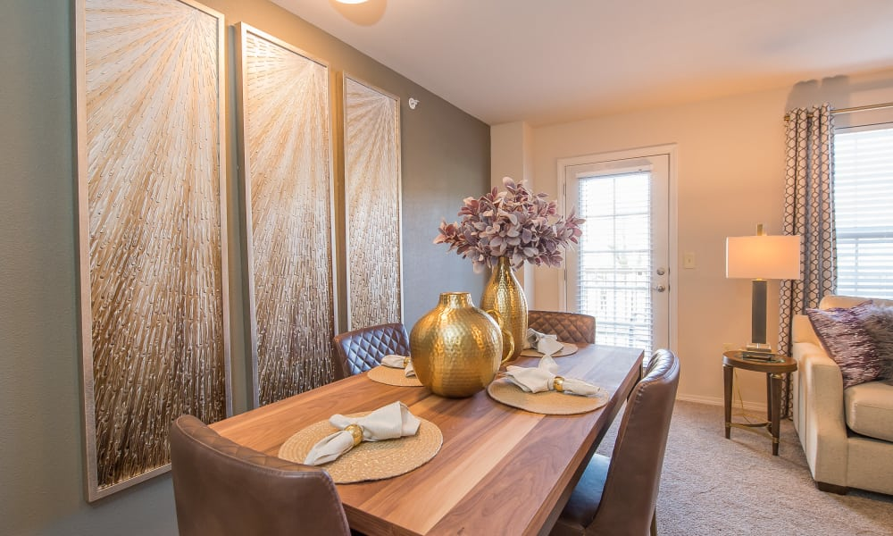 A well decorated dining room at Cottages at Crestview in Wichita, Kansas