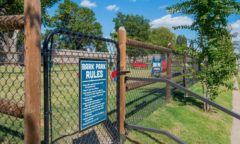 Bark park at Cottages at Crestview in Wichita, Kansas