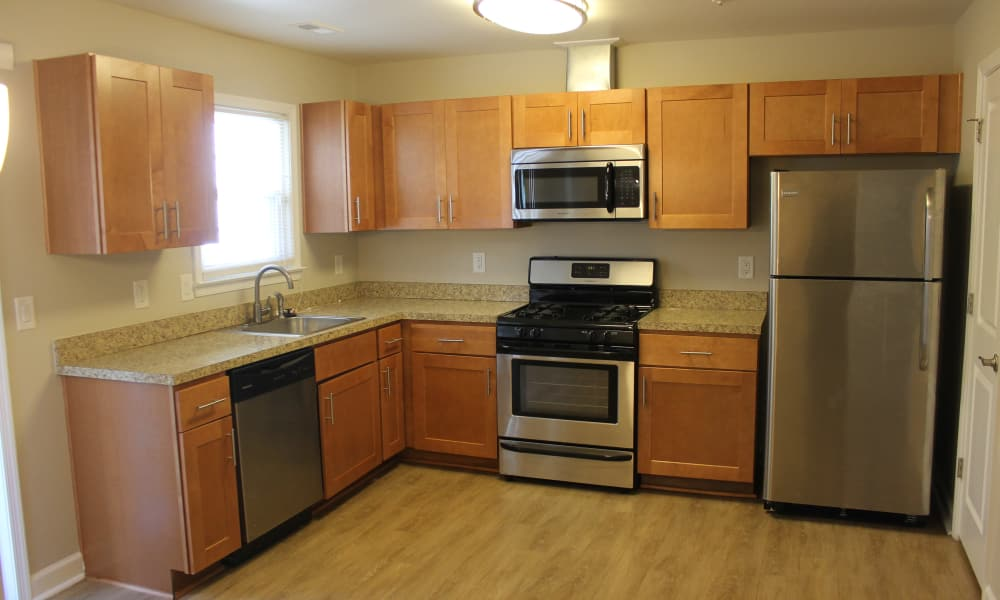Enjoy a well-equipped kitchen at Washington Square in Gaithersburg, Maryland