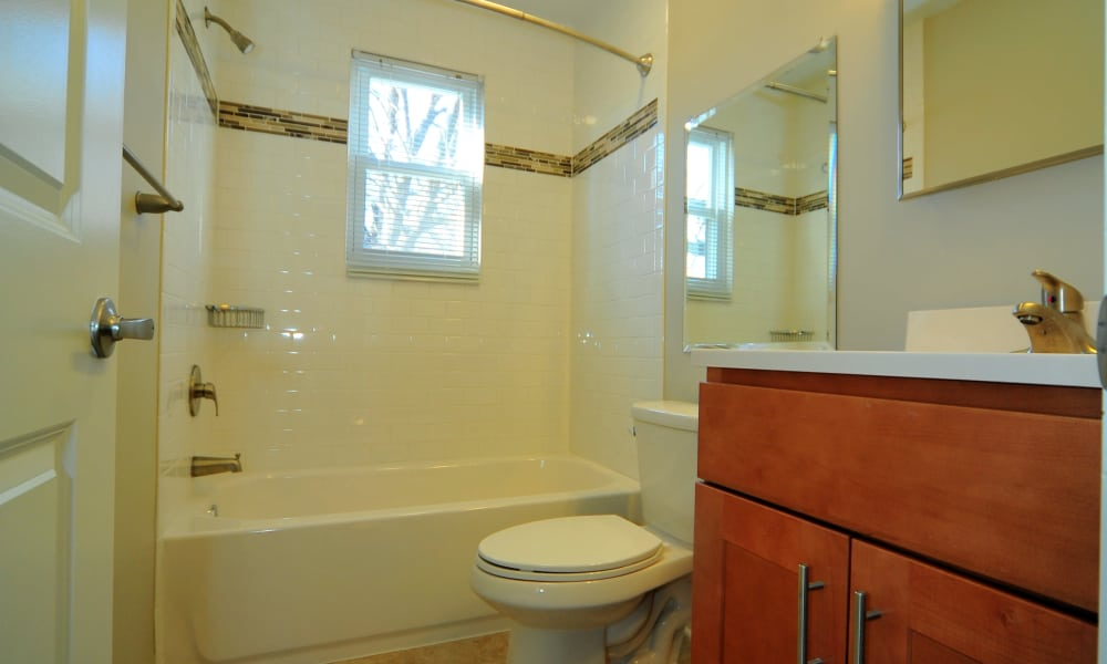 Bathroom at Washington Square in Gaithersburg, Maryland