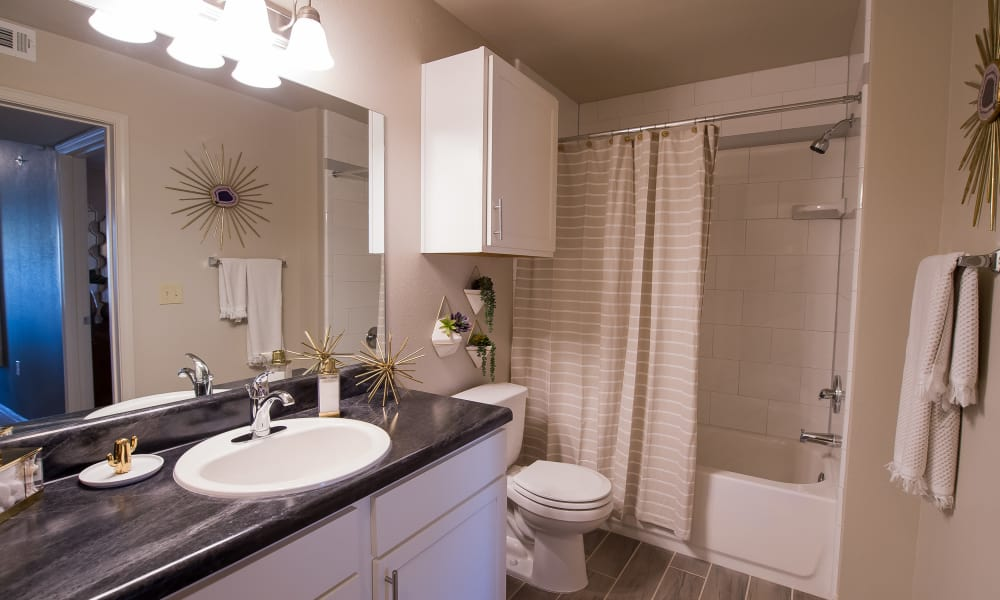 Bathroom with a bathtub at Cottages at Crestview in Wichita, Kansas