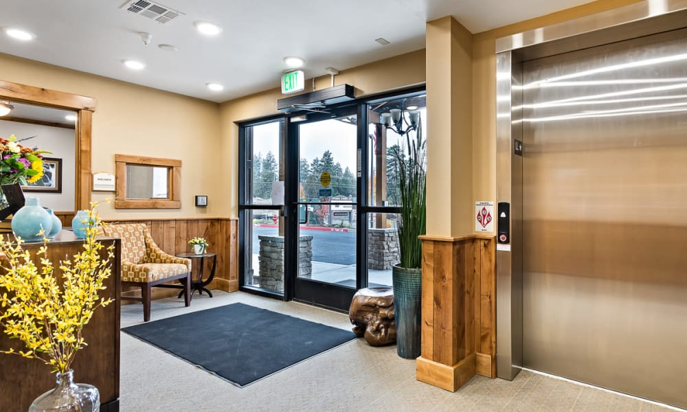 Lobby at Mill View Memory Care in Bend, Oregon