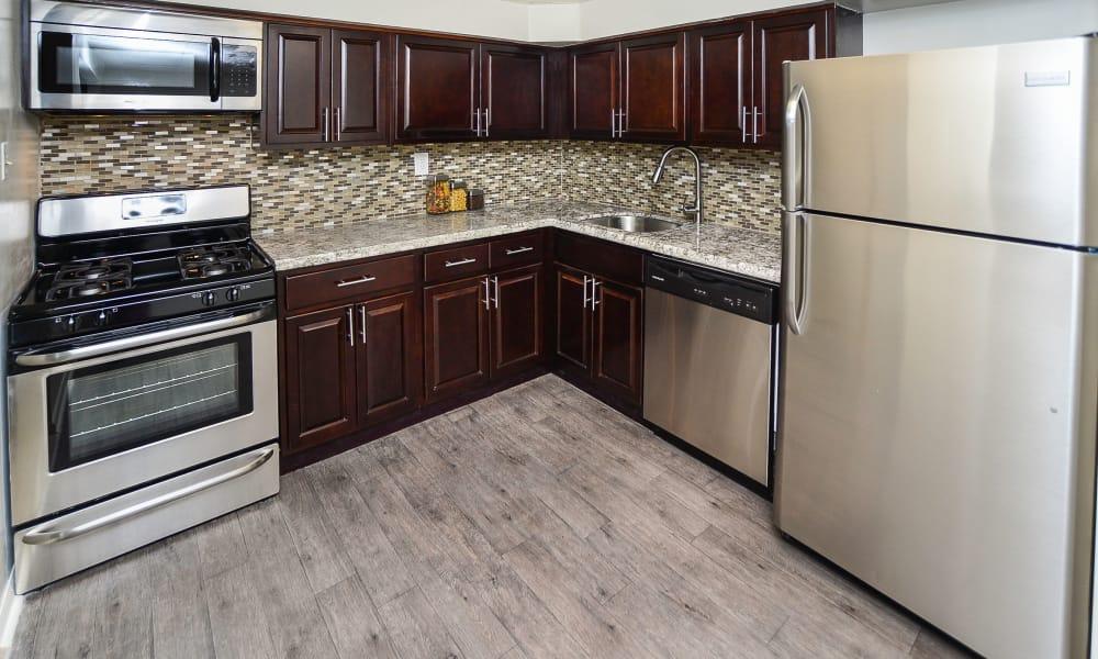 Luxury kitchen at apartments in Harleysville, Pennsylvania