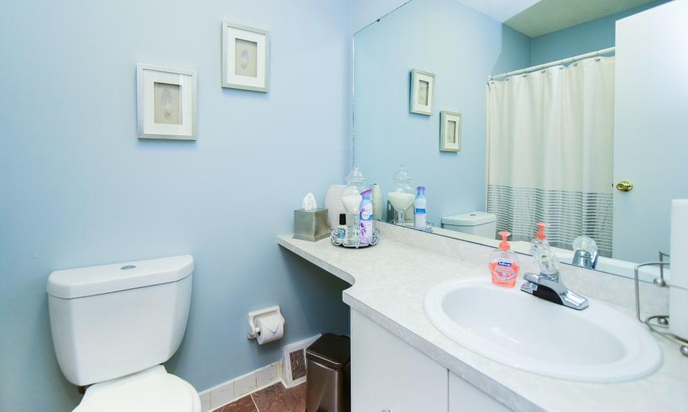 Beautiful bathroom at apartments in Harleysville, Pennsylvania