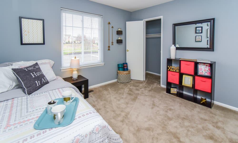 Spacious bedroom at apartments in Harleysville, Pennsylvania