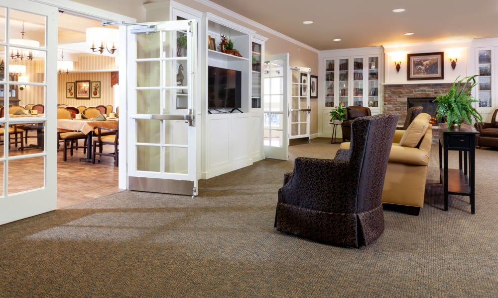 Comfortable chairs for residents at Robinwood Landing Alzheimer's Special Care Center